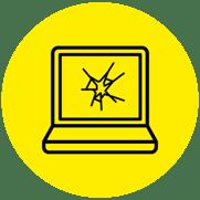 Icono Ordenador Daños materiales